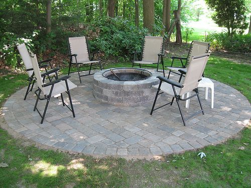Stand Alone Patio Designs : Stand alone fire pit patio landscape projects