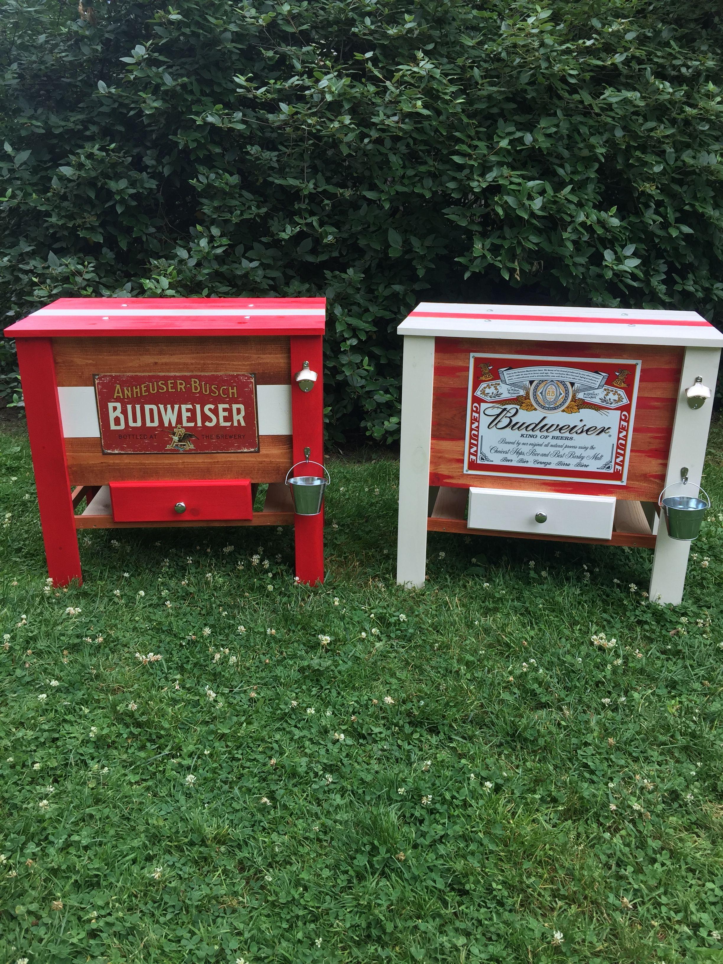 DIY wood BUDWEISER cooler!