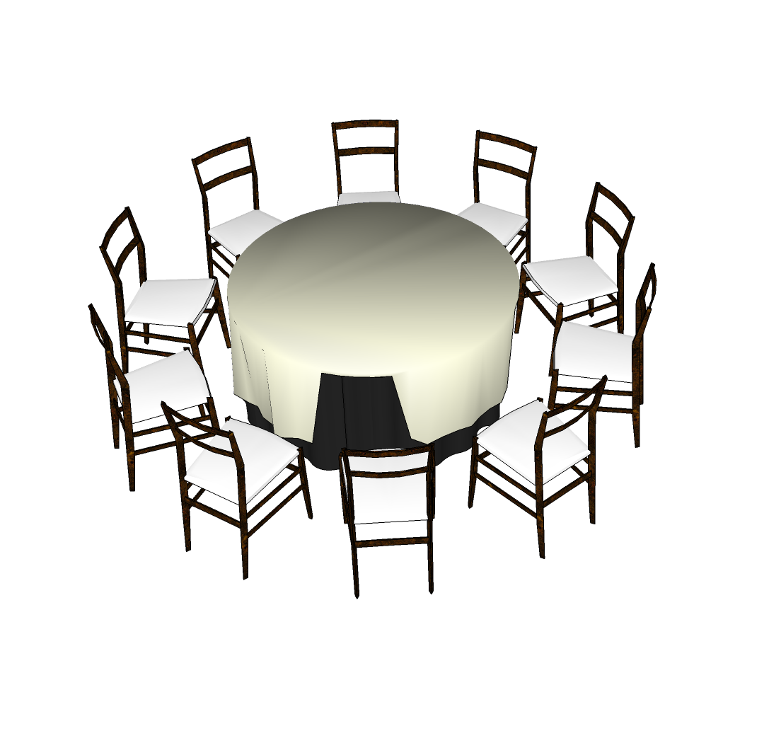 Pin on round end table