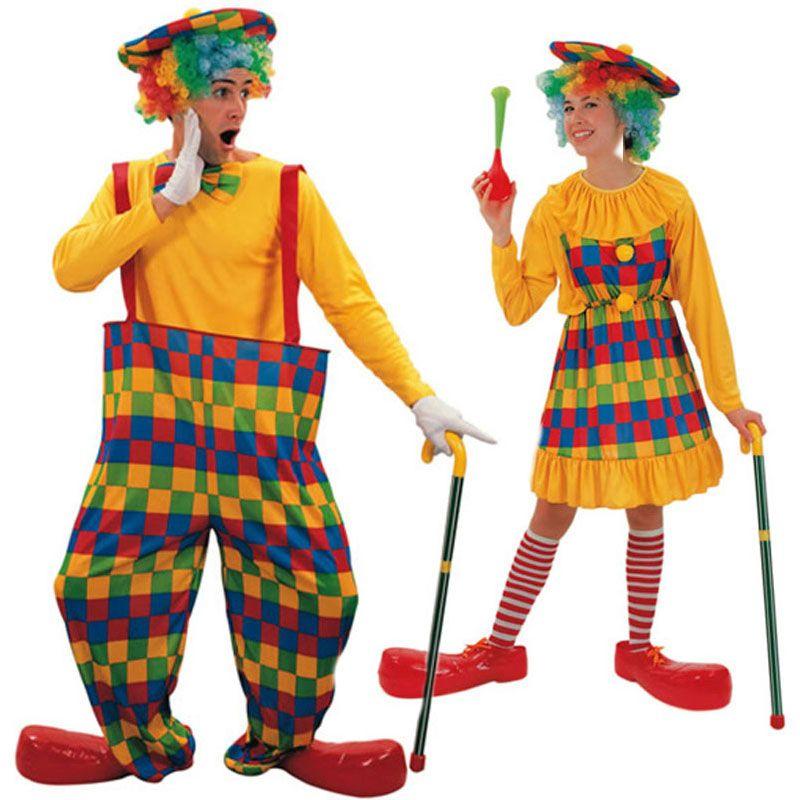 Pareja de disfraces de payasos parejas disfraces for Disfraces parejas adultos