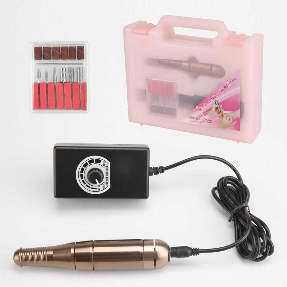 Professional Electric Acrylic Nail Drill File Machine Kit With Bits Manicure Tp268