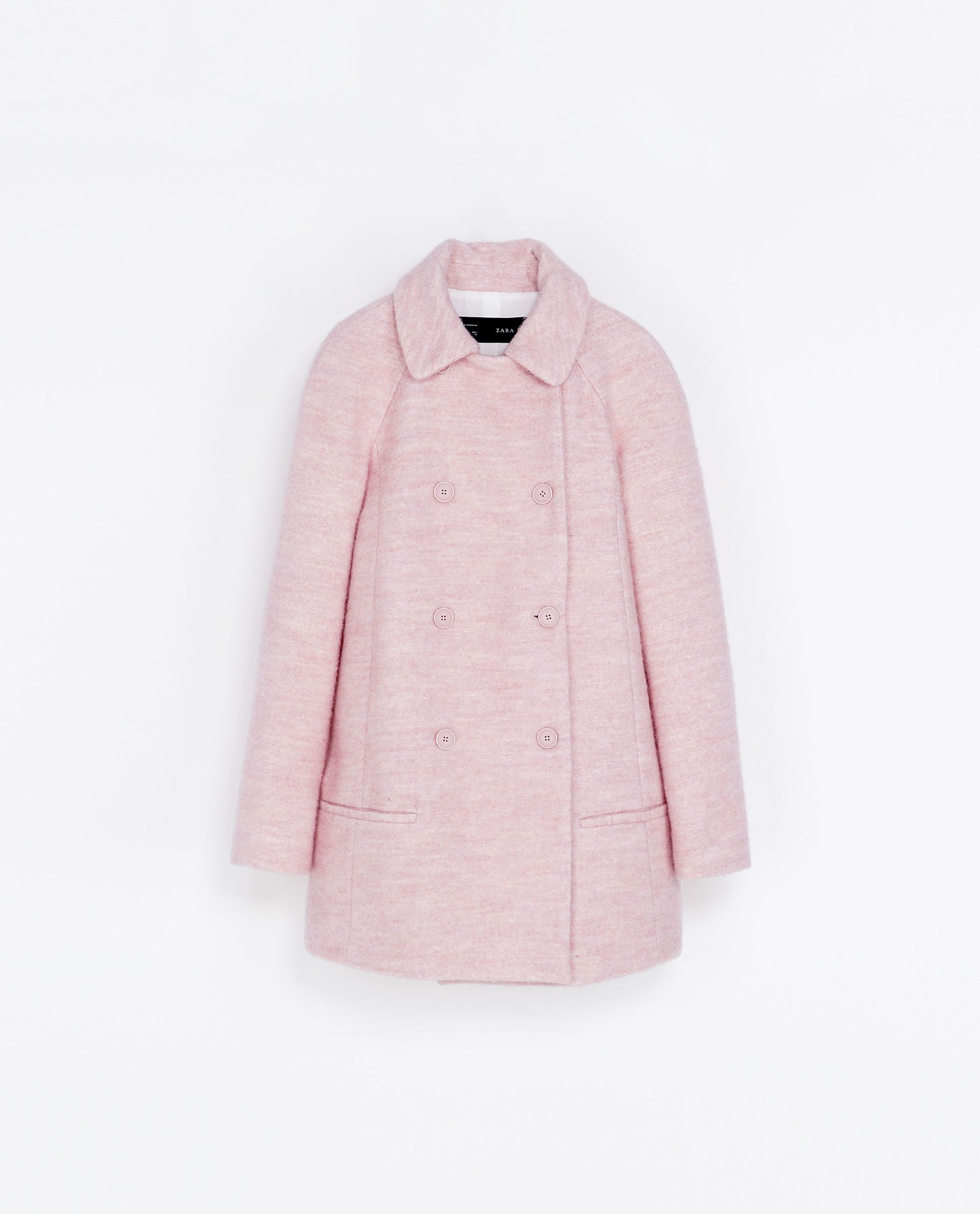 Abrigo lana corto zara