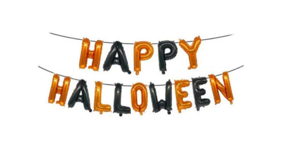 Happy Halloween Balloon Banner Etsy In 2020 Halloween Balloons Balloon Banner Happy Halloween