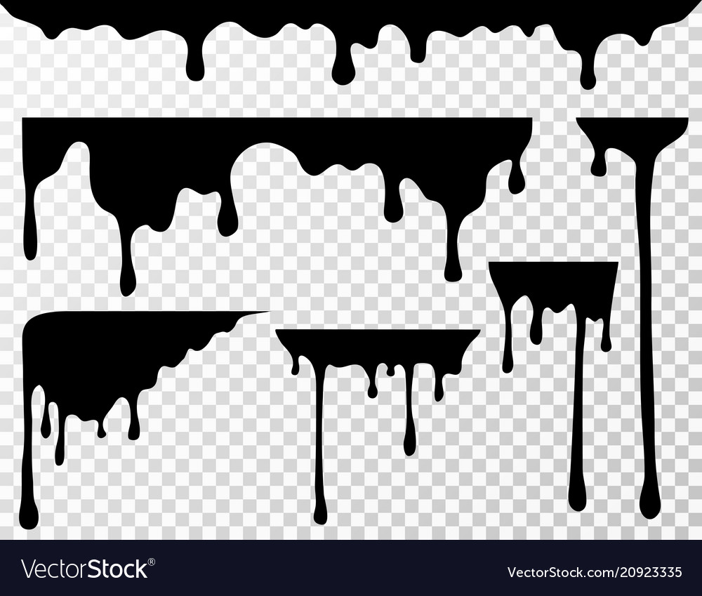 Black Dripping Oil Stain Liquid Drips Or Paint Vector Image Dripping Paint Art Paint Vector Drip Art