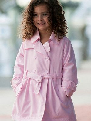 831547415a9df Dani by Sarah Louise Toddler   Girls Pink Trench Coat Sizes 2-8 Pretty in  pink trench coat. Classic and trendy. The perfect topper for everything  from ...