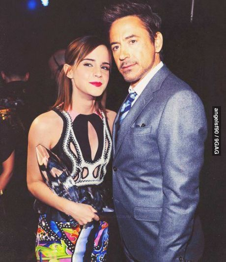 You Cant Handle This Awesomeness Emma Watson & Robert Downey JR.
