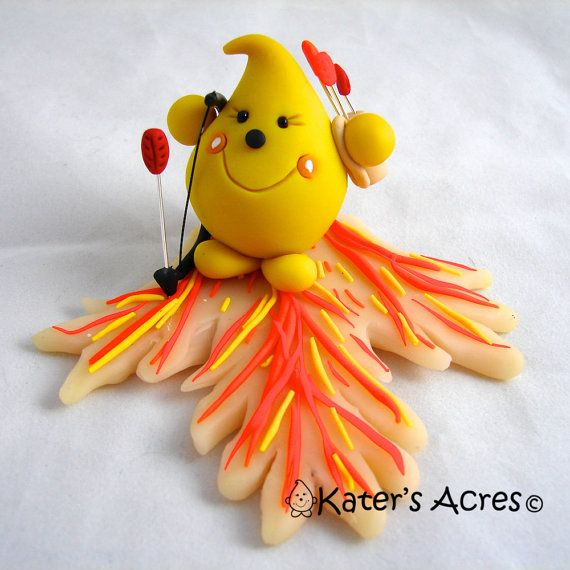 PARKER on FIRE  Hunger Games Inspired Polymer Clay by KatersAcres, $68.00
