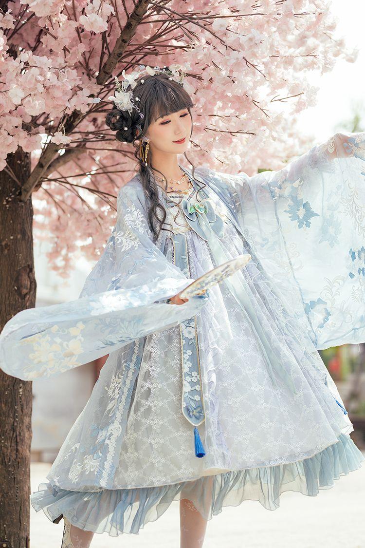 Fantastic Wind -The Blooming Flowers- Qi Lolita OP Dress Version II #dollvictoriandressstyles