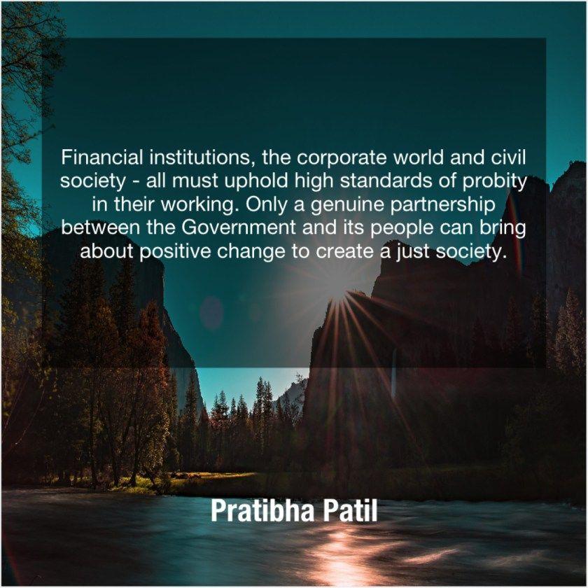 Pratibha Patil Financial Institutions The Corporate World Ivan Turgenev Tom Lehrer Tony Robbins