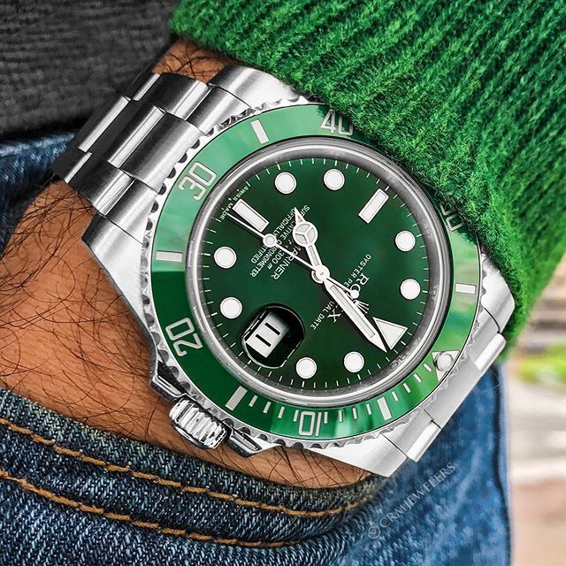 Rolex Hulk Sub No Matter what You Wear The Hulk Will be the Perfect Piece $9950 . . . . #timepieces #swisswatch #vintagewatch #patek #swissmade #richardmille #deluxe #tagheuer #iwc #audemarspiguet #highend #luxuryliving #hublot #expensive #styleblog #succ #rolexsubmariner #rolex #submariner #hulk #rolexsubmariner