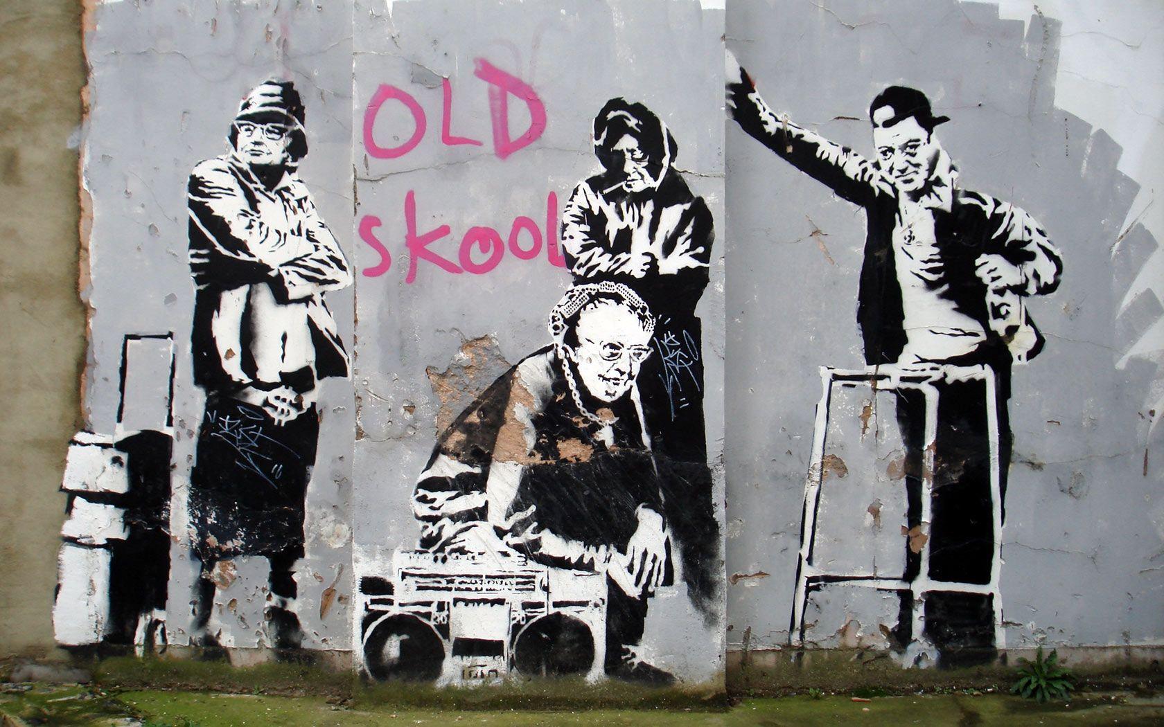 Download Banksy Graffiti WallpaperDownload 1680x1050 Artistic