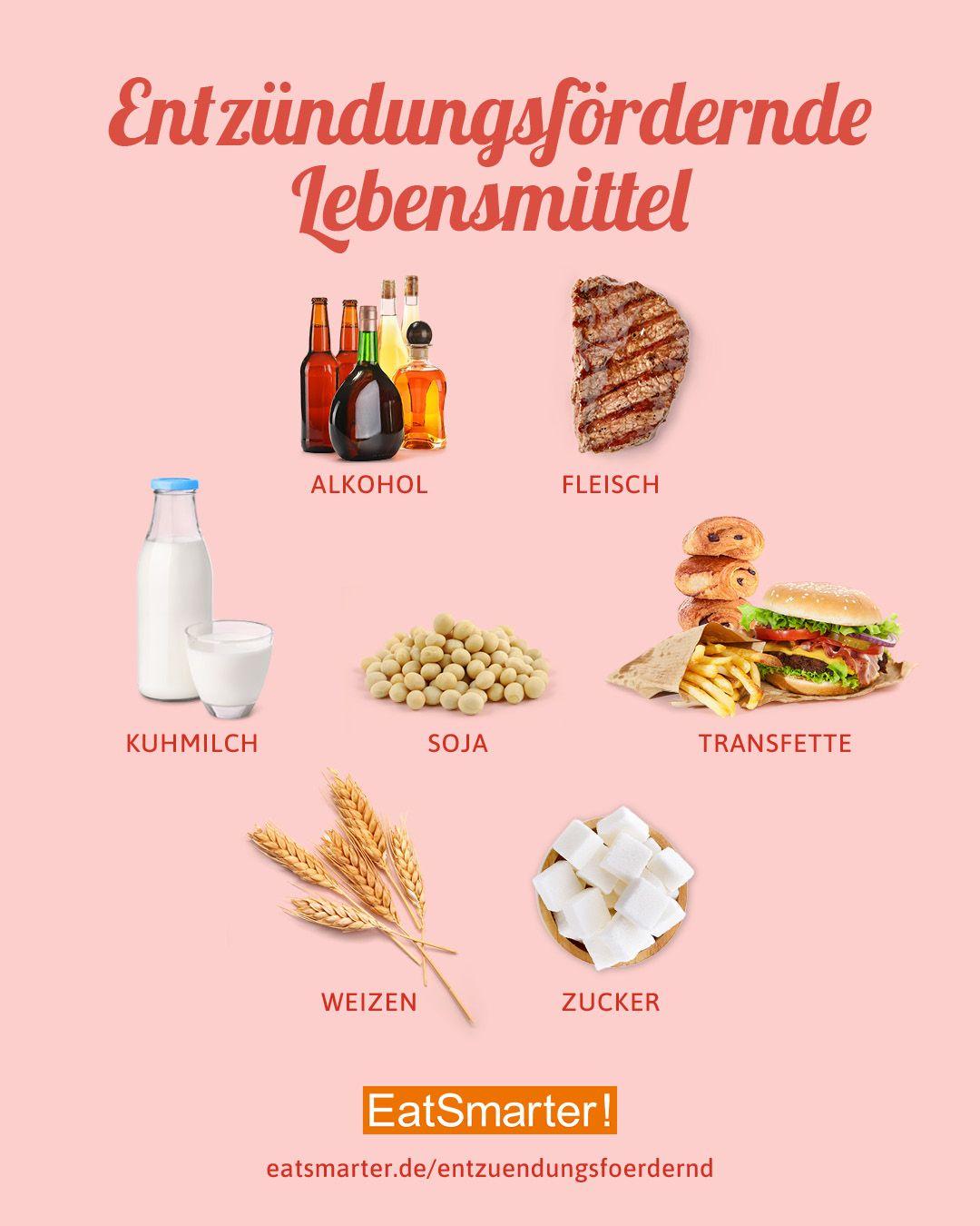Diese 10 Lebensmittel verursachen Entzündungen!  Lebensmittel