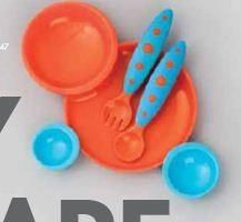 Boon Groovy Intelocking Plate   Bowl Set W_ Modware In Blue Raspberry Tangerine. See More Feeding Utensils at http://www.ourgreatshop.com/Feeding-Utensils-C1136.aspx