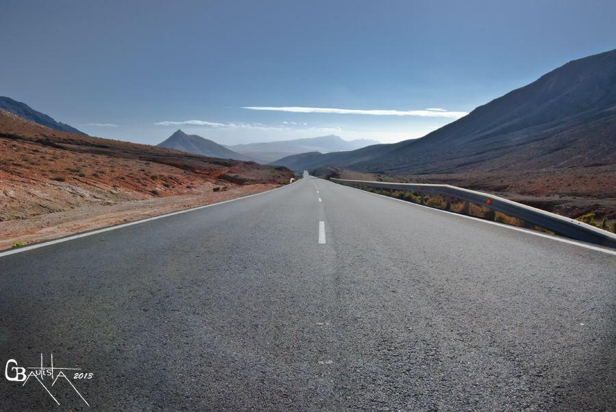 Carretera Del Barranco De Chilegua, Fuerteventura.