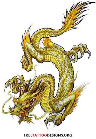 6e5e85258 Golden dragon | Tattoos in 2019 | Dragon tattoo designs, Japanese ...