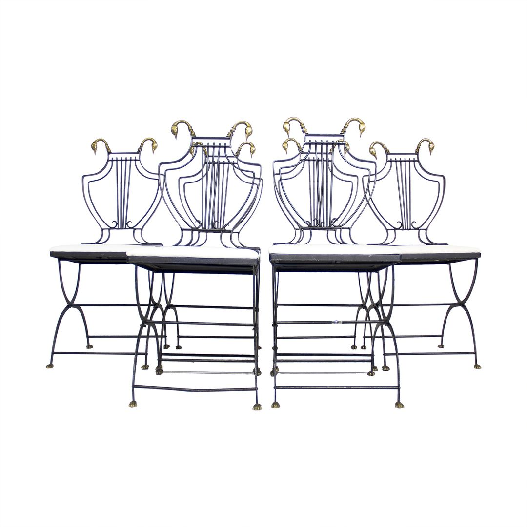Set of 6 Lyre Back Regency Style Chairs | via @The_Highboy at www.thehighboy.com