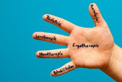Hand zum Thema Ergotherapie - Ergotherapie en Handtherapie