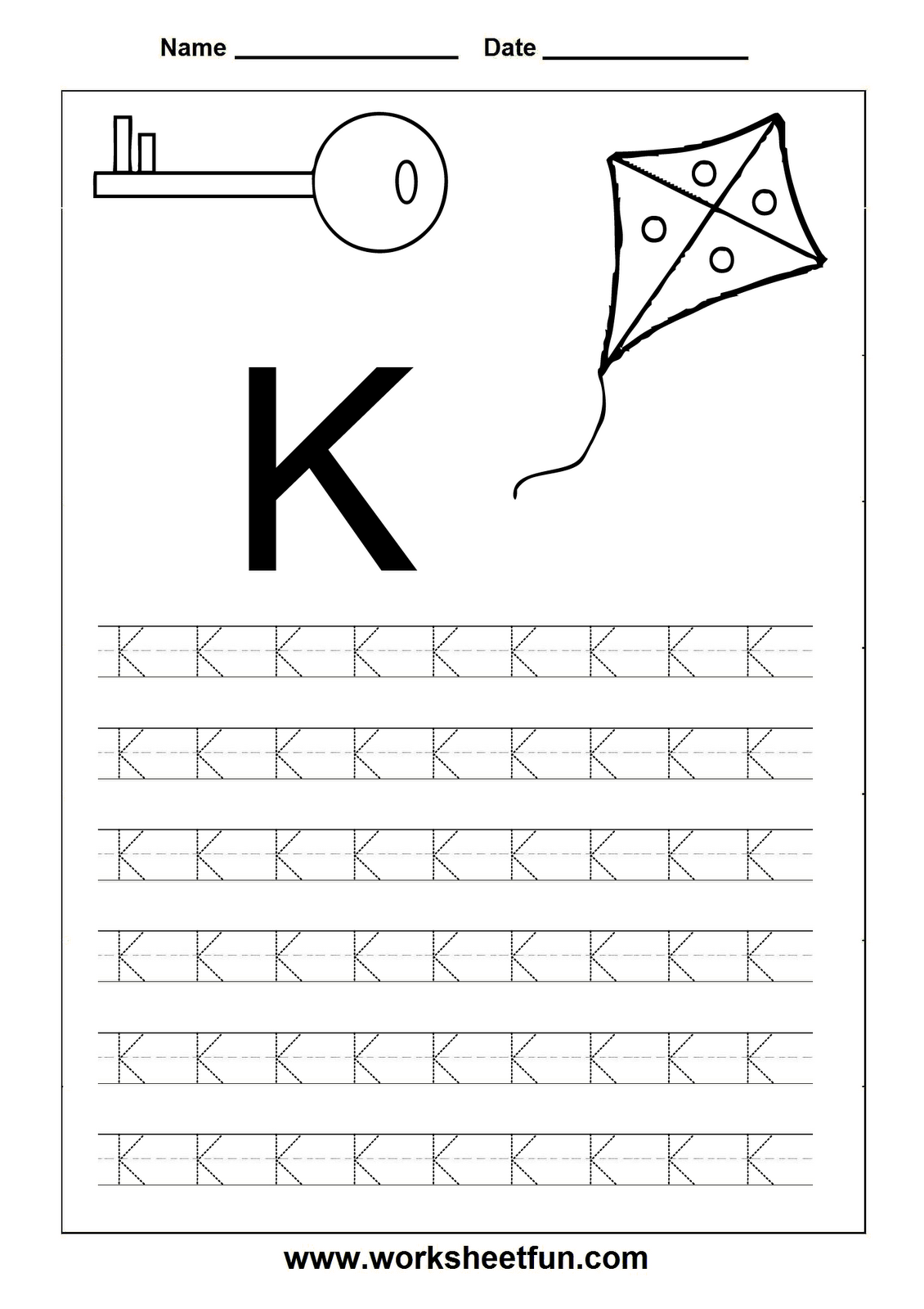 K Tracing Worksheet Versaldobip – Letter K Worksheets Kindergarten