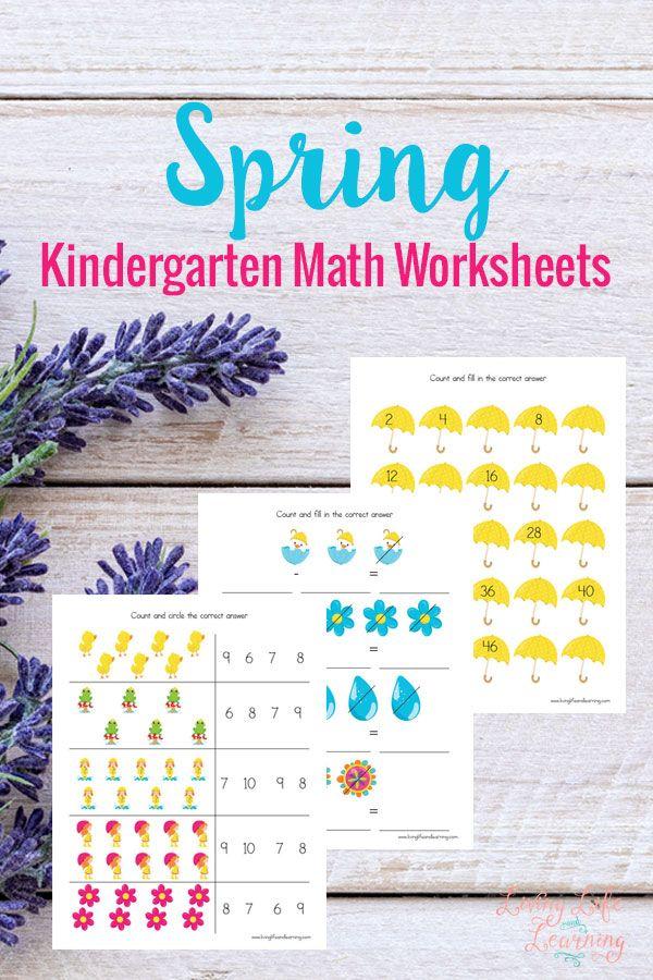 Spring Kindergarten Math Worksheets | Matemáticas, Matemáticas para ...