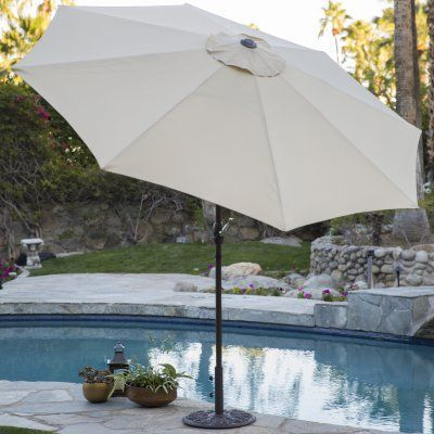 Coral Coast 9 Ft. Steel Market Patio Umbrella   8000NZ 14 1112TPX | Patio  Umbrellas, Steel And Products