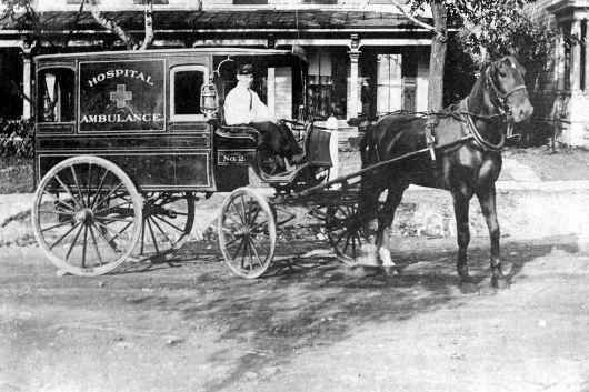 During the American Civil War, every regiment eventually possessed at least one ambulance cart. But it wasn't until late 1865, in Cincinnati, Ohio, that the first ambulance service for civilians in America was established.