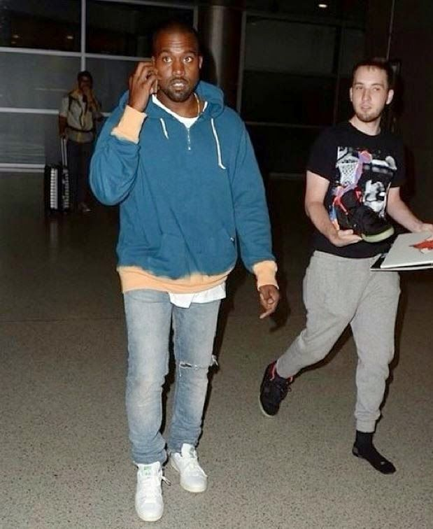 Celeb Sneaker Game Kanye West Wearing Adidas Originals Stan Kanye West Adidas Originals Stan Smith How To Wear
