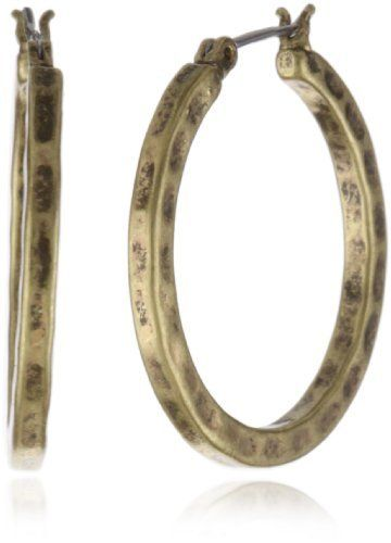Lucky Brand Gold-Tone Small Hammered Round Hoop Earrings Lucky Brand. $18.00. Made in CN