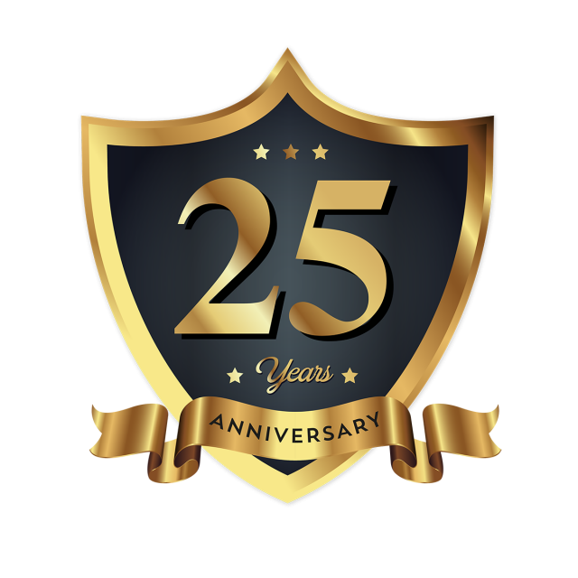 25th anniversary png th anniversary badge logo icon free logo design template