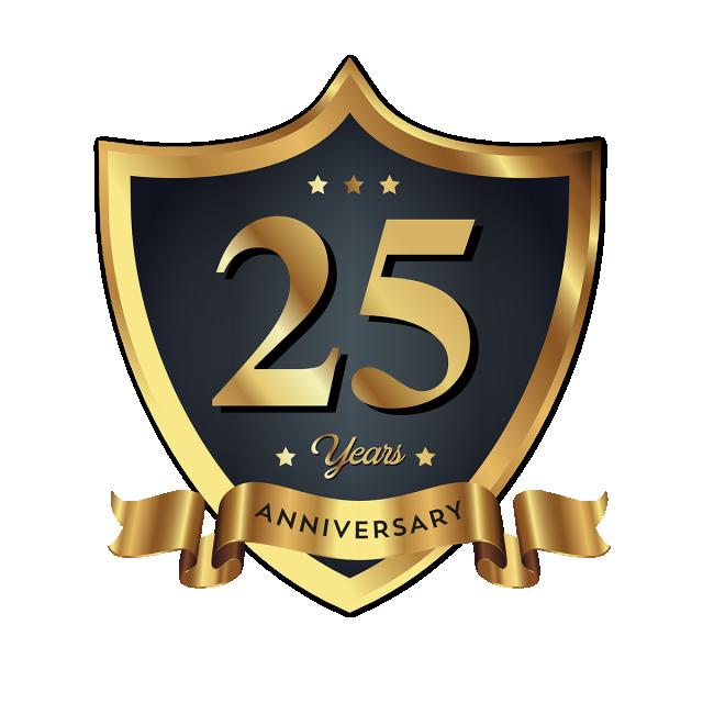 25th Anniversary Badge Logo Icon Free Logo Design Template
