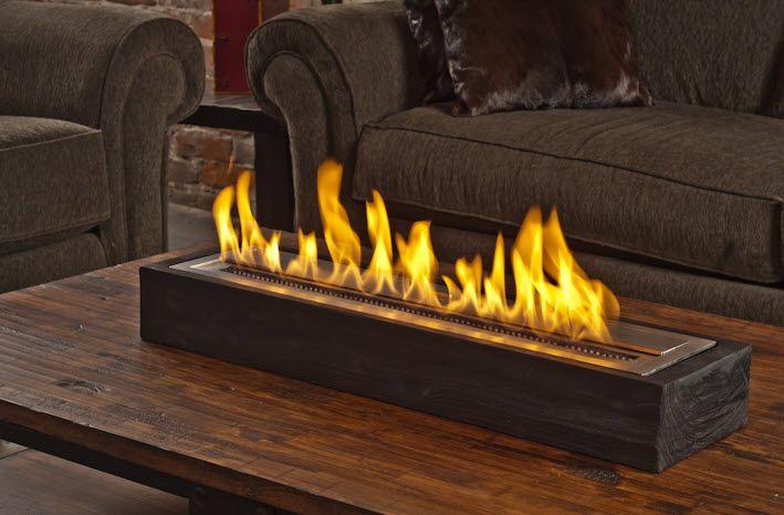 30 Sienna Reclaimed Elm Modern Fireplace Portablefireplace Tabletop Fireplaces Ethanol Fireplace Portable Fireplace