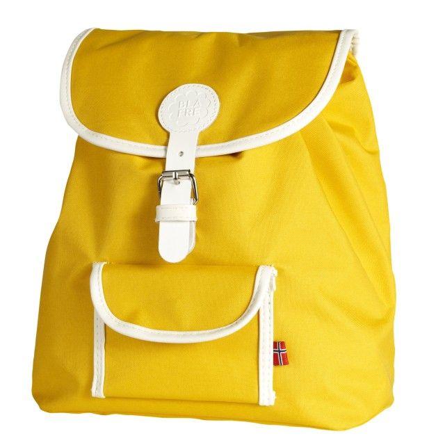 fe9aa23d54c Mooie retro rugzak voor kleuter geel 8,5 liter - Blafre Vintage Rucksack,  Kinder