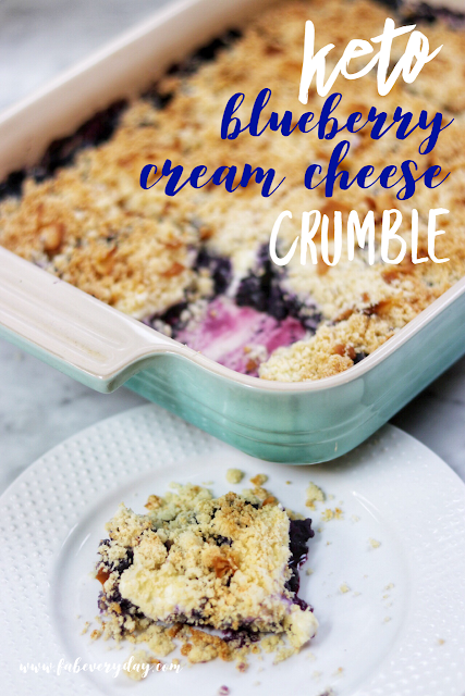 Keto Blueberry Cream Cheese Crumble Recipe #ketodessert