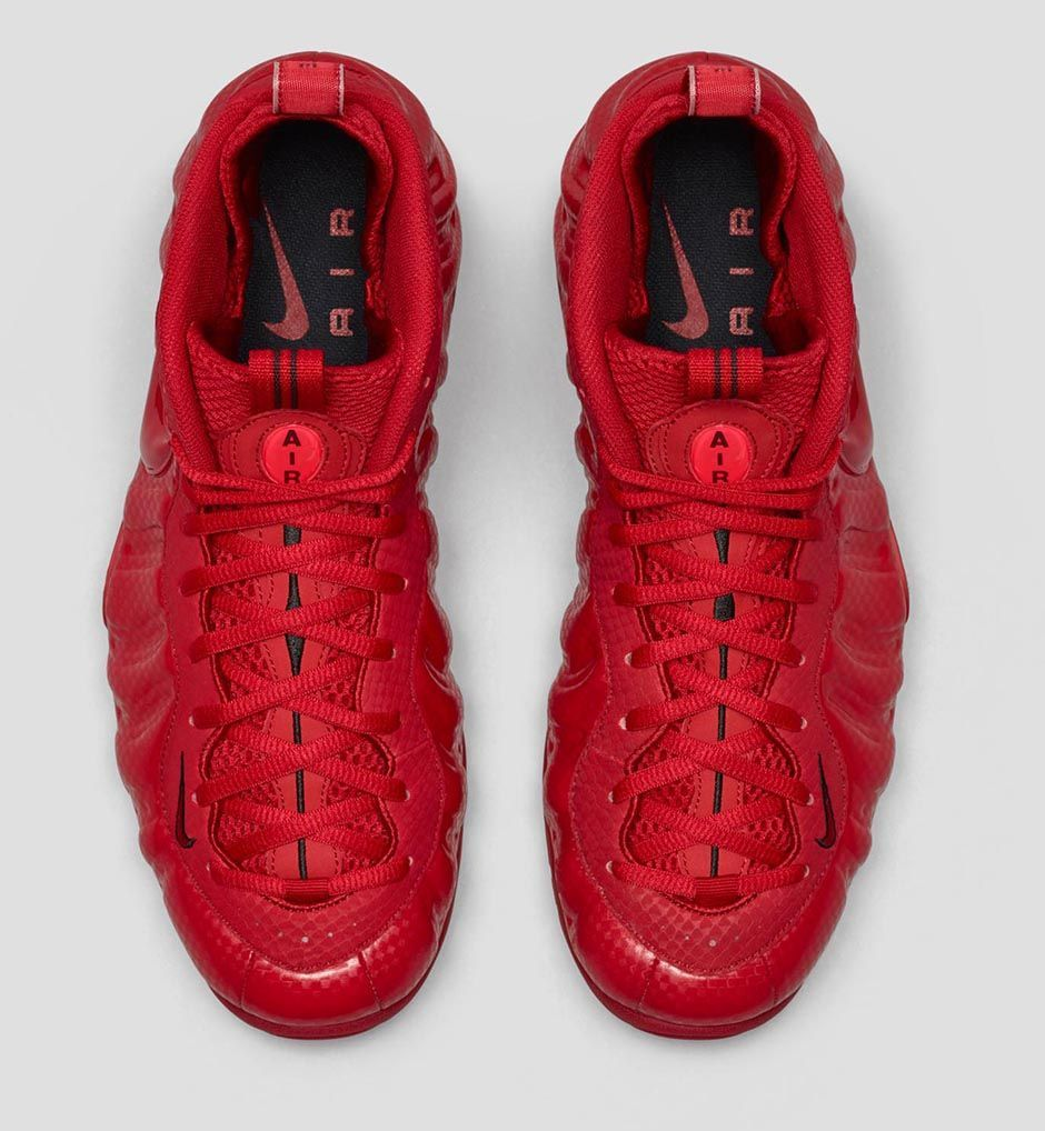 bd628037c981 red nike foamposite lebron james basketball shoes