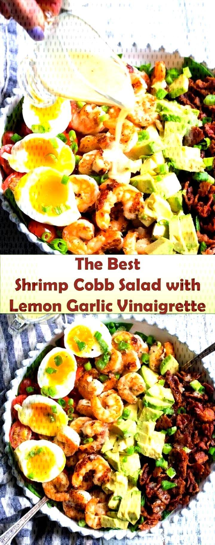 946 Reviews Your family s favorite food and drink ! Shrimp Cobb Salad with Lemon Garlic Vinaigret
