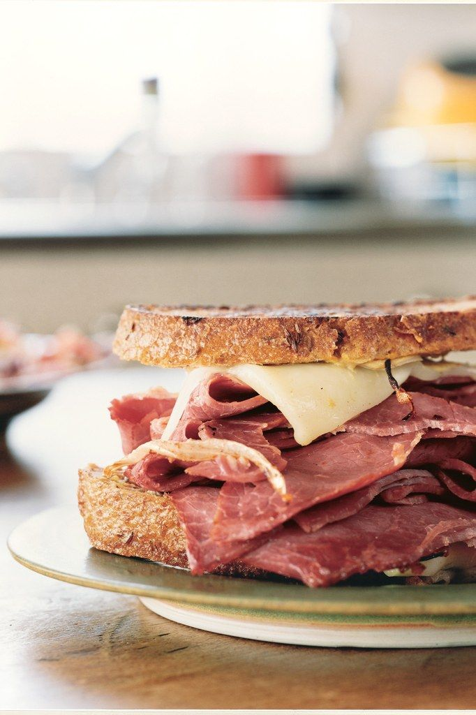 Grilled Corned Beef and Fontina Sandwiches Yes A Good One Right Here .