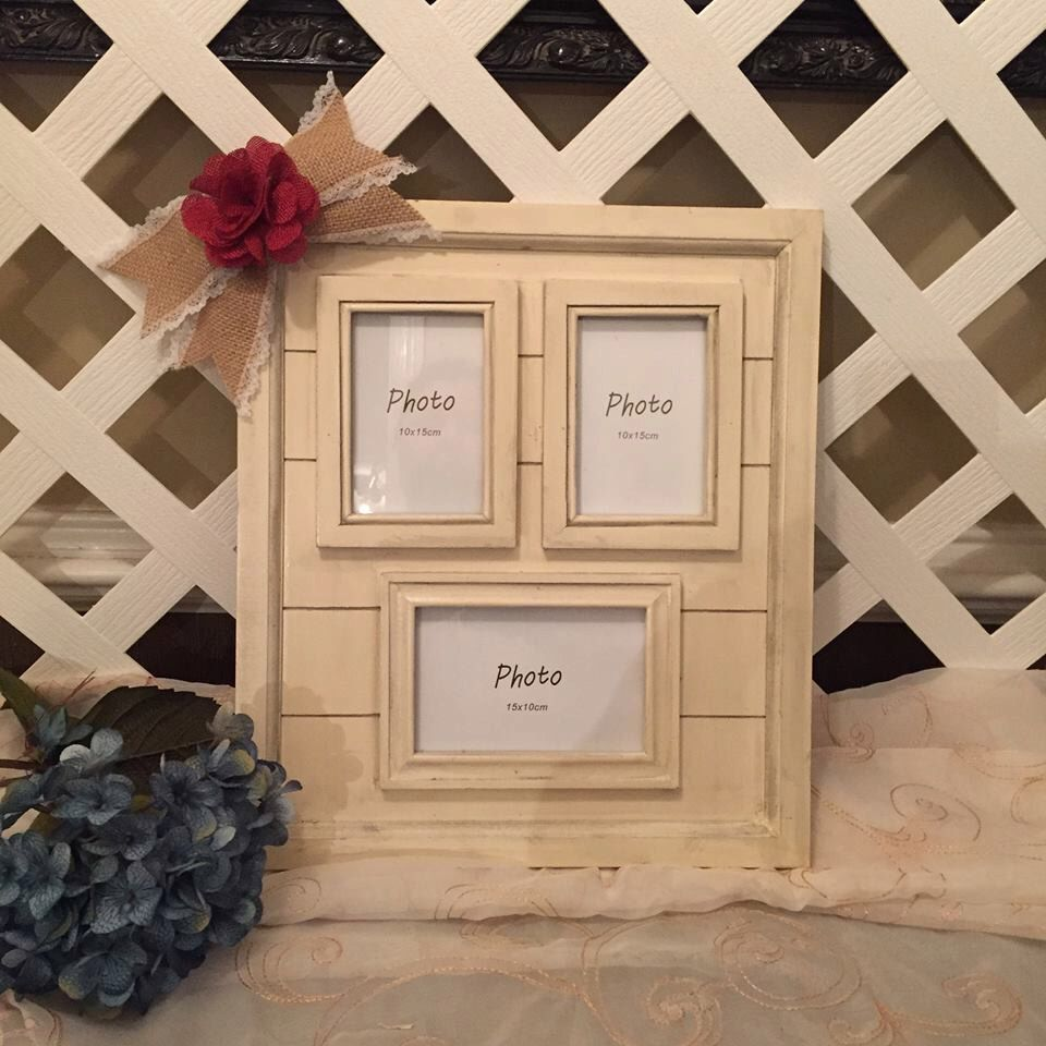 A personal favorite from my Etsy shop https://www.etsy.com/listing/252163332/rustic-collage-picture-frame-rustic