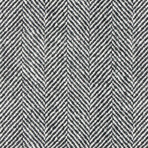 Black And White Fabric Herringbone Tweed Look In Black And Etsy Black And White Fabric Herringbone Tweed Fabric
