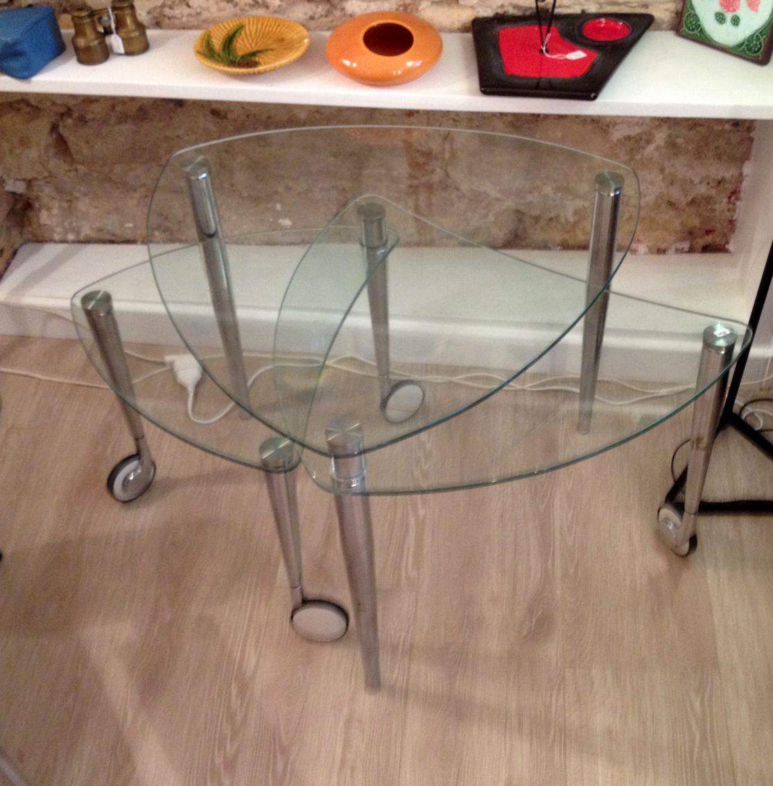 Tables gigognes x 3-design 1970