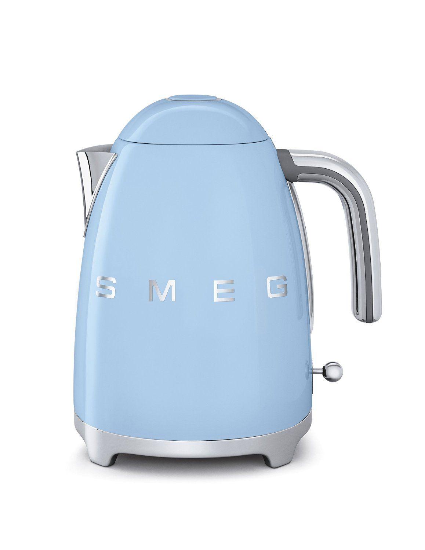 Smeg Wasserkocher im Retro Stil der 50er Jahre 1, 7 L pastell, blau ...