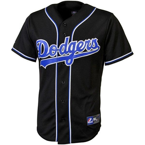 Los Angeles Dodgers Black Replica MLB Baseball Jersey  66e52e0664781