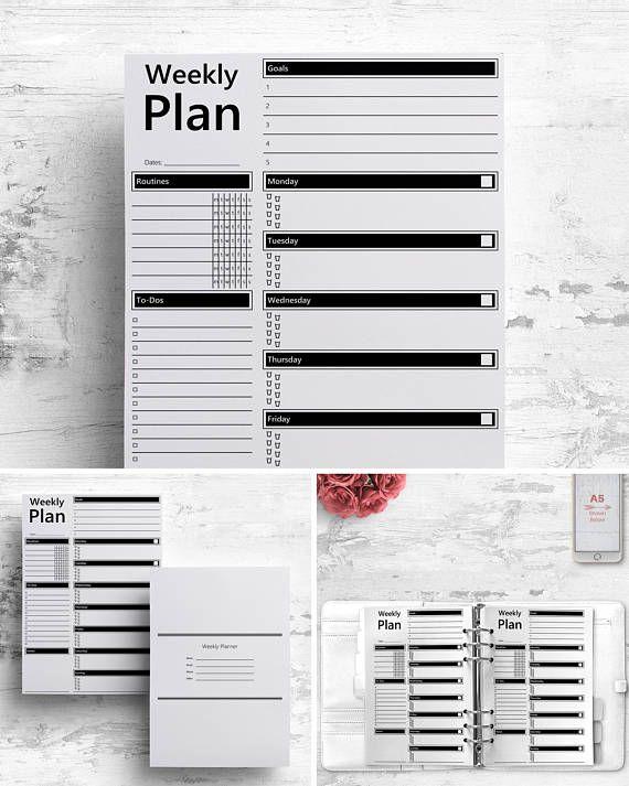 WoP Weekly Planner Printable A A Letter Weekly Printable