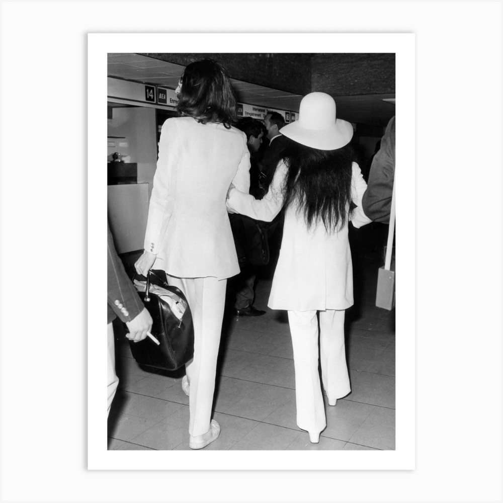 John Lennon And Yoko Ono Walking Away Art Print By Vintage Photography Collection Fy John Lennon And Yoko John Lennon Yoko Ono