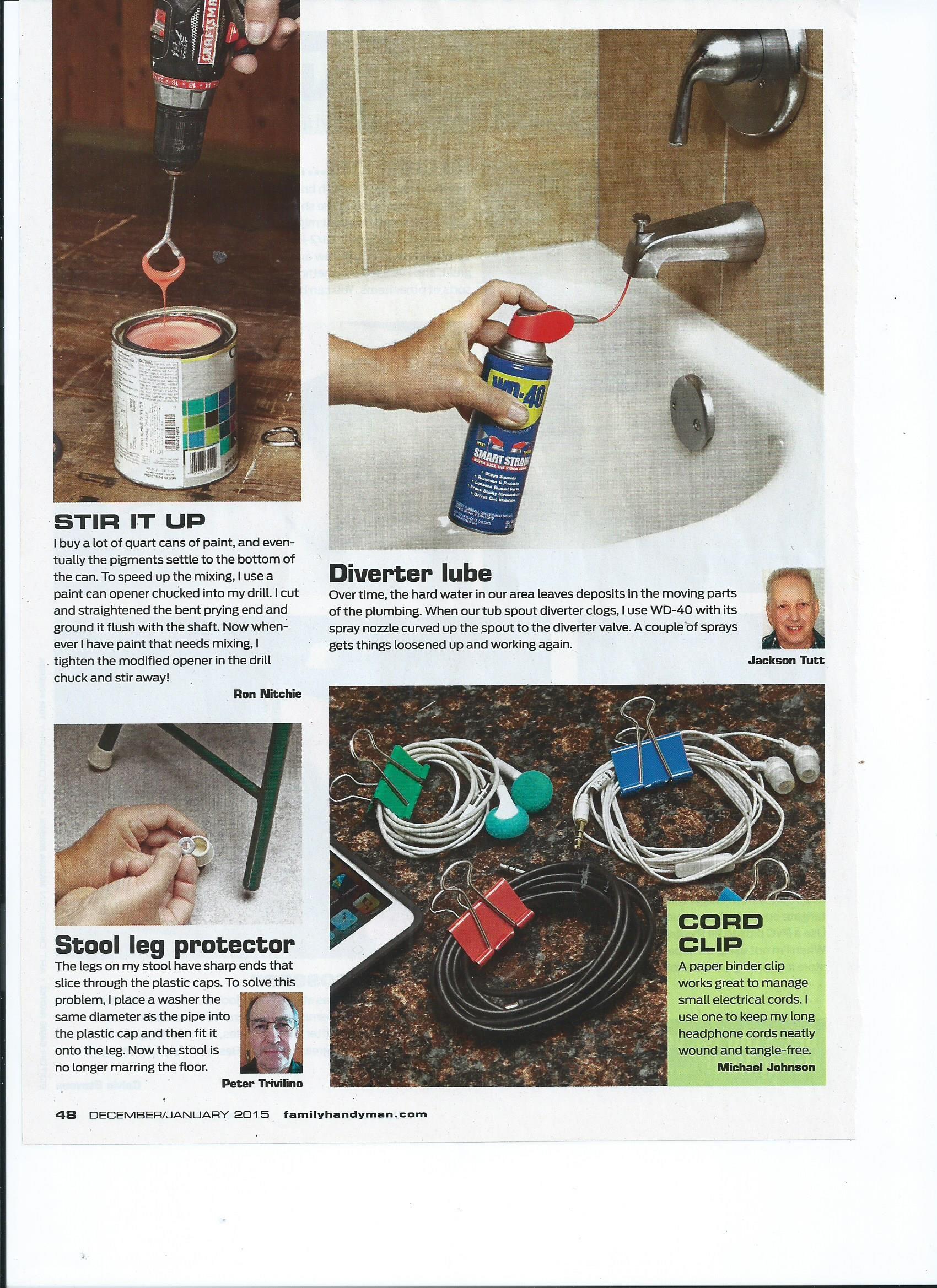 stir it up - diverter lube - stool leg protector - cord clip