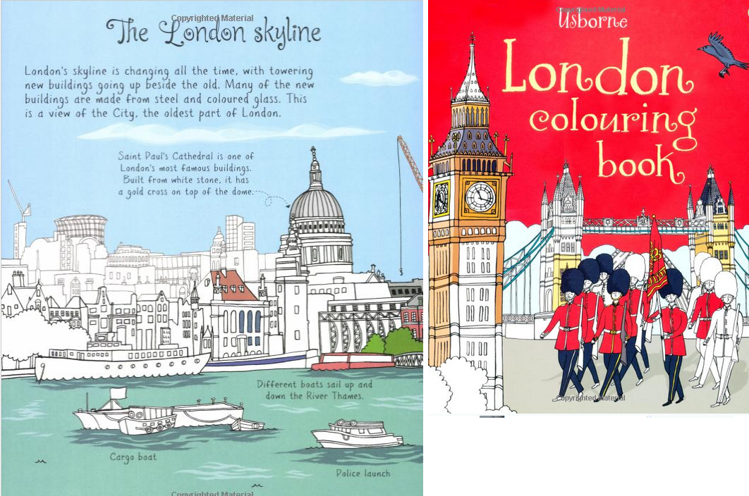 London Colouring Book Usborne