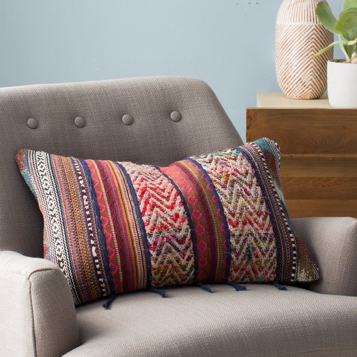 Cammi Rectangular Recycled Synthetic Fibers Throw Pillow Throw Pillows Modern Throw Pillows Pillows