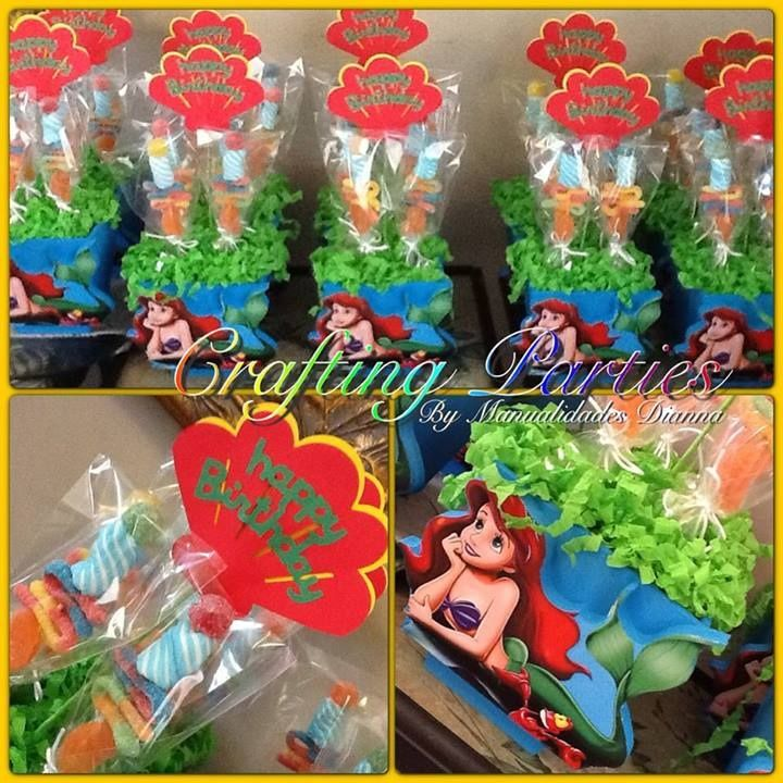 these ariel little mermaid centerpieces are great for a little girls birthday party base is. Black Bedroom Furniture Sets. Home Design Ideas