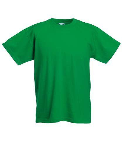 Fruit Of The Loom Childrens T Shirt In Kelly Green Size 7-8 (SS6B
