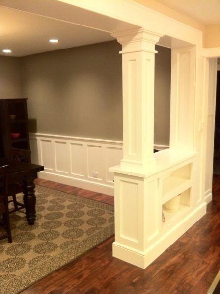 Colunas... | D&D - Doors, Trim & Molding | Pinterest | Half walls ...
