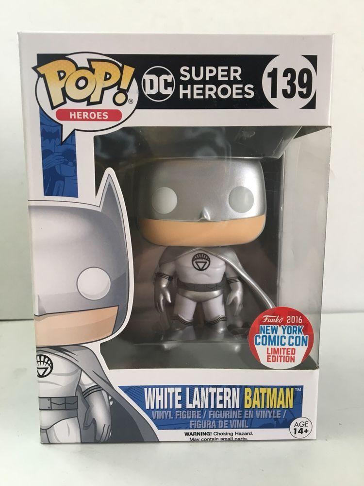 Heroes NYCC 2016 DC Super Heroes #139 White Lantern Batman POP