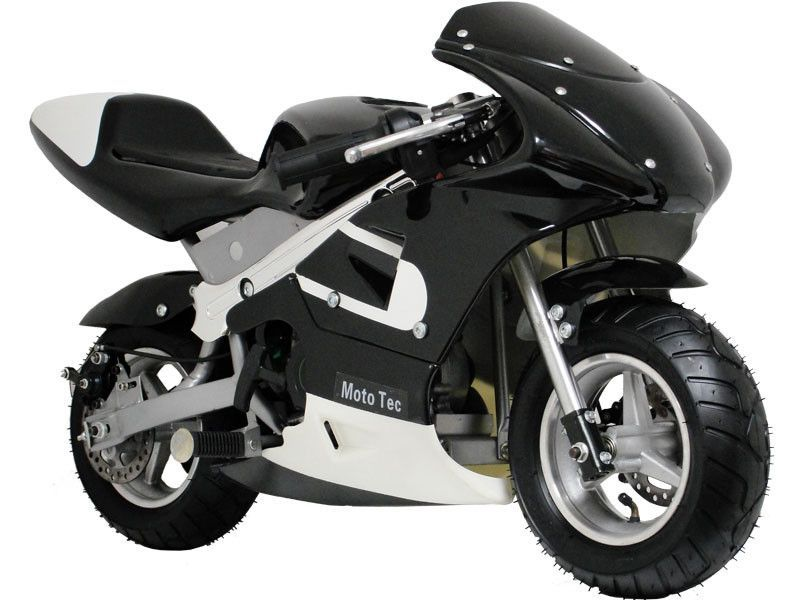 Mototec Gas Pocket Bike Black Pocket Bike